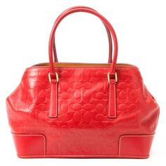 Red Coach Bag..love red for fall.