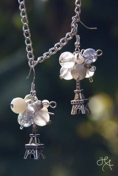 handmade by Hana  ◦ paris ◦ náušničky/orecchini/earrings https://www.facebook.com/hmbyha?fref=ts