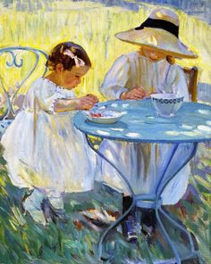 Cherry Time - Helen Galloway McNicoll 1912Canadian 1879-1915oil on canvas