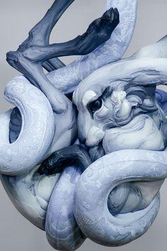 Animal Sculptures by Beth Cavener Stichter - http://www.theinspiration.com/2015/02/animal-sculptures-beth-cavener-stichter/