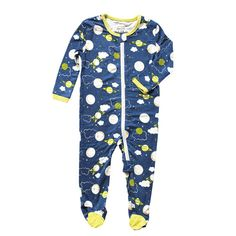 d457528558 Bamboo Footies with Easy Dressing Zipper - Blue Galaxy Space - Silkberry  Baby