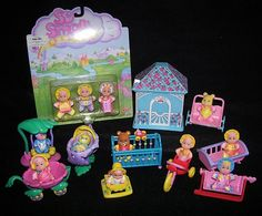 So Small Babies Collection (by Galoob) I had the cat, dog, and bear too! These were my faves!