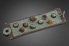 "Penny Rug Cuff by Julie Powell (Beaded Bracelet) (0.5"" x 1.75"")"