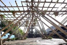 Gallery - Penda Continues to Push Bamboo with Rising Canes at Beijing Design Week - 24 Modular Housing, Bamboo Structure, Vertical Farming, Bamboo Design, Construction Process, Green Building, Beijing, Ecology, Pavilion