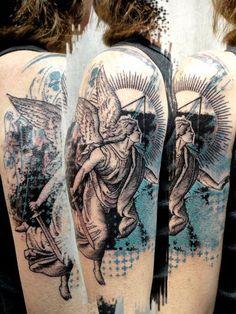 Abstract angel tattoo