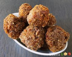 Deep-fried meatballs - polpette di carne fritte: these meatballs are scrumptious and perfect for a party or a buffet. Not to mention, kids totally love them! Italian recipe, step-by-step with photos on cookwithgrazia.com blog