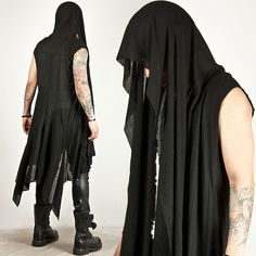 Outerwear - AVANT-GARDE DRAPING LONG SLEEVELESS HOOD CARDIGAN - 45 for only 49.00 !!!