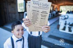 wedding details.  Wedding program.