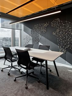 DCT Trading Offices - Istanbul - Office Snapshots Interior Design Boards, Office Interior Design, Office Interiors, Interior Ideas, Conference Room Design, Innovative Office, Startup Office, Open Space Office, Modern Office Design