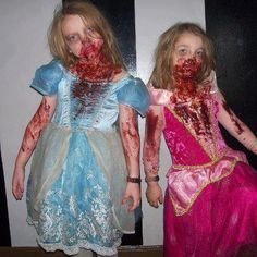 Zombie Princess. Molasses+red food coloring=AMAZING fake blood!
