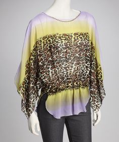 Take a look at this Purple & YellowAnimal Top by Madison Paige on #zulily today! $12.99, regular 80.00
