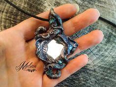 Enchanted mirror magic mirror woodland amulet elven