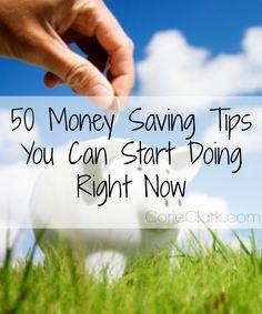 50 Money Saving Tips You Can Start Doing Right Now #budget #moneysavingtips #money