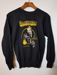 161ad082 Vtg 1985 Harry Blackstone Magik Ent Inc. Sweater 80's Top Half Tropix Small  80s Top