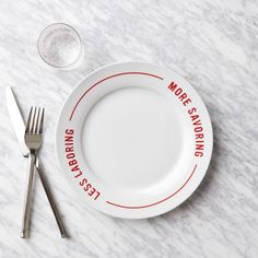 personal philosophy: less laboring, more savoring. // plates from west elm.