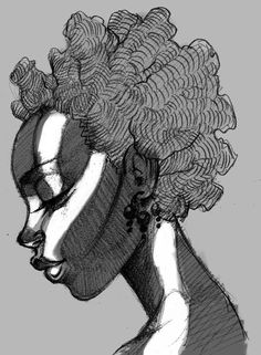 Natural hair art Curly, afro, ebony, black, kinky, wavy, rasta, natural hair...www.facebook.com/gonaturalspain