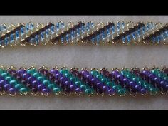 Perfect Imperfections Bracelet 2 (superduo edition) Beading Tutorial by HoneyBea… Seed Bead Jewelry, Bead Jewellery, Diy Jewelry, Beaded Jewelry, Seed Beads, Armband Tutorial, Bracelet Tutorial, Beaded Bracelets, Bracelet Patterns