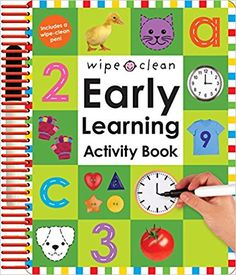 Amazon.com: Wipe Clean: Early Learning Activity Book (Wipe Clean Early Learning Activity Books) (9780312499228): Roger Priddy: Books