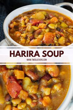 This Instant Pot Harira Soup is a deliciously authentic Morrocan stew that makes a perfect appetizer or main course. This vegan soup is to die for! Morrocan Stew, Morrocan Food, Moroccan Dishes, Moroccan Recipes, Pressure Cooker Recipes Vegetarian, Vegetarian Soup, Vegetarian Recipes, Healthy Recipes, Harira Soup