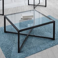 A transitionally styled cocktail table that will beautifully appoint any living room setting. Large Furniture, Furniture Deals, Cheap Furniture, Wood Furniture, Square Glass Coffee Table, Sofa End Tables, Coffee Tables, Coffee Table Dimensions, Solid Wood Dining Chairs