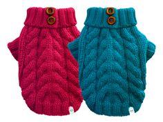 Pull en tricot torsadé - vêtements d'hiver pour votre chien #animauxdecompagnie