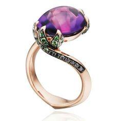 d1d9d2381043 Tomasz Donocik amethyst water lily ring Amethyst Jewelry