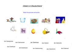 KS3-4 Ostern in Deutschland. Reading skills practise, Easter vocabulary, a Knüppelkuchen recipe and help to create an Easter card in German.