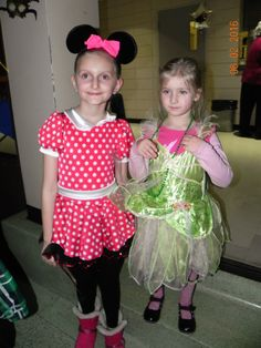Sweet! Young ladies in beautiful costumes
