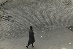 Roy DeCarava, Woman walking, above, New York 1950, Vintage gelatin silver print