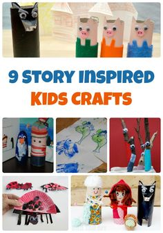 9 Story Inspired Kids Crafts for Creative Storytelling - Glue Sticks and Gumdrops Easy Toddler Crafts, Crafts For Kids To Make, Art For Kids, Kids Crafts, Activities For Kids, Activity Ideas, Science Activities, Book Crafts, Art Crafts