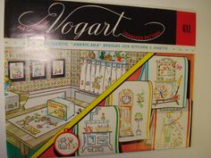 Vintage 60s VOGART Authentic Americana Kitchen Iron On Embroidery Transfer Pattern #681 UNCUT by SweetLibertyStudio on Etsy
