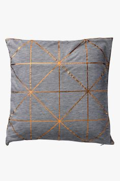 Bloomingville Copper Diagonal Cushion available at Superette #superettestore #cushion