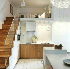 Home design living room small spaces mezzanine 26 Ideas Tiny Spaces, Small Apartments, Ikea Small Spaces, Tiny House Living, Home And Living, Small Space Living, Living Spaces, Living Room, Deco Studio