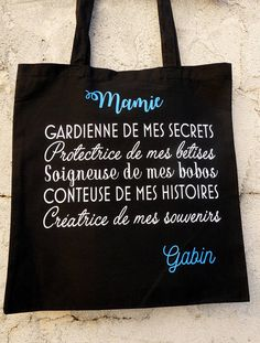 Proverbe Anniversaire : Bag Grandma – Grandma gift – thank you Grandma – great Grandma – personalized gift – grandmothers party – party grannies Cadeau Grand Parents, Granny Gifts, Grandmother's Day, Grandma Quotes, Beauty Games, Gift Quotes, Natural Beauty Tips, Personalized Gifts, Cricut