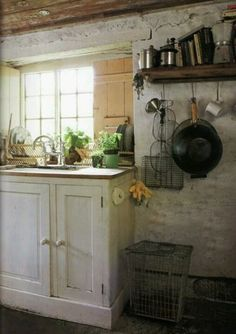 rustic charm... love these wire baskets