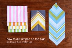 How To cut stripes on the bias by thought & found
