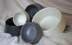 Concrete Dog Bowl, Concrete Cat Bowl, Concrete Pet Bowl, Concrete Bowl-Medium size, Grey, Black or White