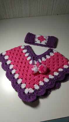 Poncho with matching head band by DoreensGiftCreations on Etsy