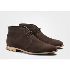 Best Buy John Lobb Grove Full Grain Leather Chukka Boots Navy full grain Men