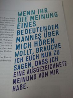 Bertolt Brecht (aus dem Programmheft des Brecht-Festivals)