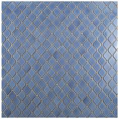 "Found it at AllModern - Arabesque 1.87"" x 2.75"" Porcelain Mosaic Tile in Blue"