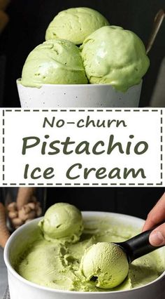 This Pistachio ice cream without ice cream maker is one of the best ice cream recipes. It's made from scratch with real pistachios and everyone will ask you for the recipe! #pistachio #icecream #no-churn #without-machine #summer #frozen #milk #eggs #green #Italian #gelato Sweet Condensed Milk, Pistachio Ice Cream, Vanilla Vodka, Best Ice Cream, Creamed Eggs, Ice Cream Maker, Mediterranean Recipes, Ice Cream Recipes, What To Cook