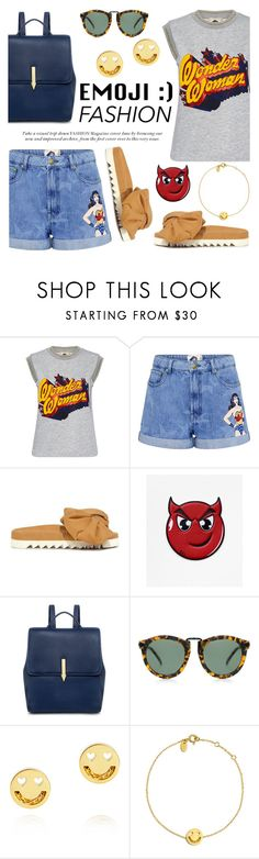 """""""Emoji Fashion"""" by ifchic ❤ liked on Polyvore featuring Paul & Joe Sister, Joshua's, Karen Walker, Ruifier, contestentry, emojifashion and ifchic"""