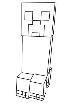Looking for minecraft coloring pages? Here's our free printable coloring pages for kids to get your little geek started. Minnie Mouse Coloring Pages, Shark Coloring Pages, Monster Coloring Pages, Horse Coloring Pages, Pokemon Coloring Pages, Coloring Pages For Boys, Free Printable Coloring Pages, Coloring Sheets, Free Coloring