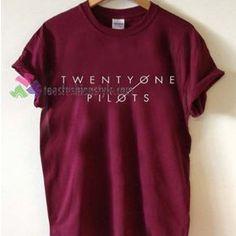 Twenty one Pilots logo Tshirt shirt Tees Adult Unisex custom clothing Size S-3XL //Price: $11.99 //
