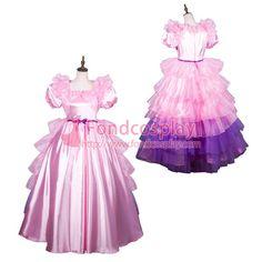 Sissy Maid Satin Dress Lockable Uniform Cosplay Costume Tailor-Made[G3802] - Sissy Maid Uniform