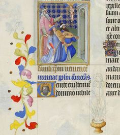 TICMUSart: David Foresee the Coming of Christ - Limbourg brothers (S. XIV) (I.M.)