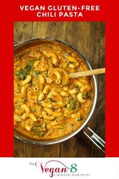 Dairy Free Recipes, Vegan Recipes Easy, Whole Food Recipes, Vegetarian Recipes, Gluten Free, Vegan Meals, Family Recipes, Chili Pasta, Vegan Dishes