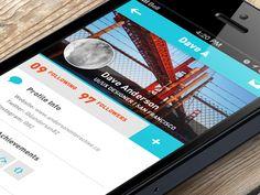 Social Network Mobile App UI by David Anderson. 30 Beautiful Mobile UI Examples #UI #mobile #design #inspiration