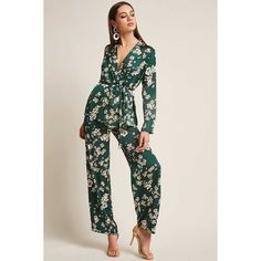 Forever21 RD & Koko Floral Palazzo Pants ($38) ❤ liked on Polyvore featuring pants, floral pants, high waisted palazzo trousers, forever 21 pants, high-waisted palazzo pants and high waisted trousers